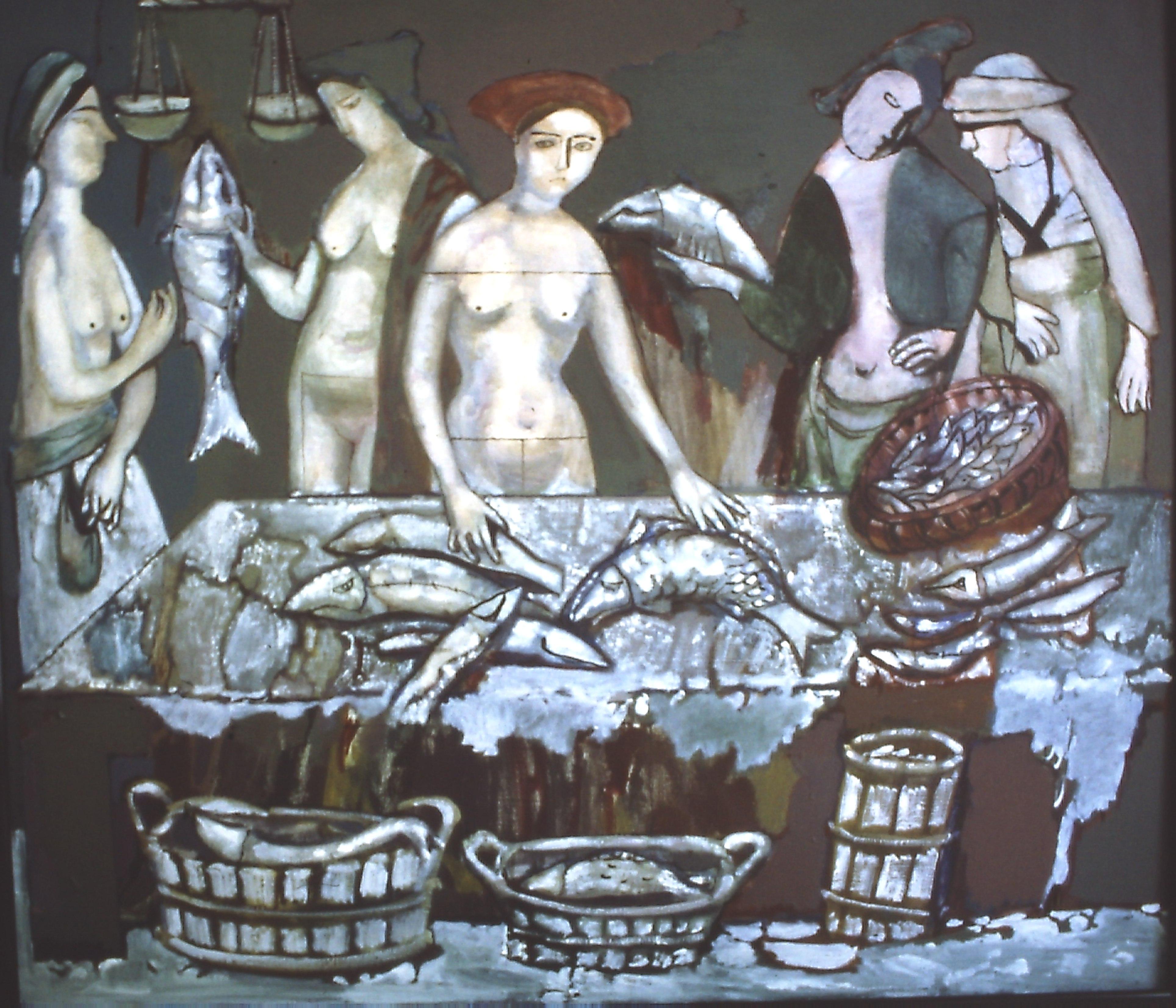 С.Пономаренко-Рыбный рынок х.м.150х170,2007г.