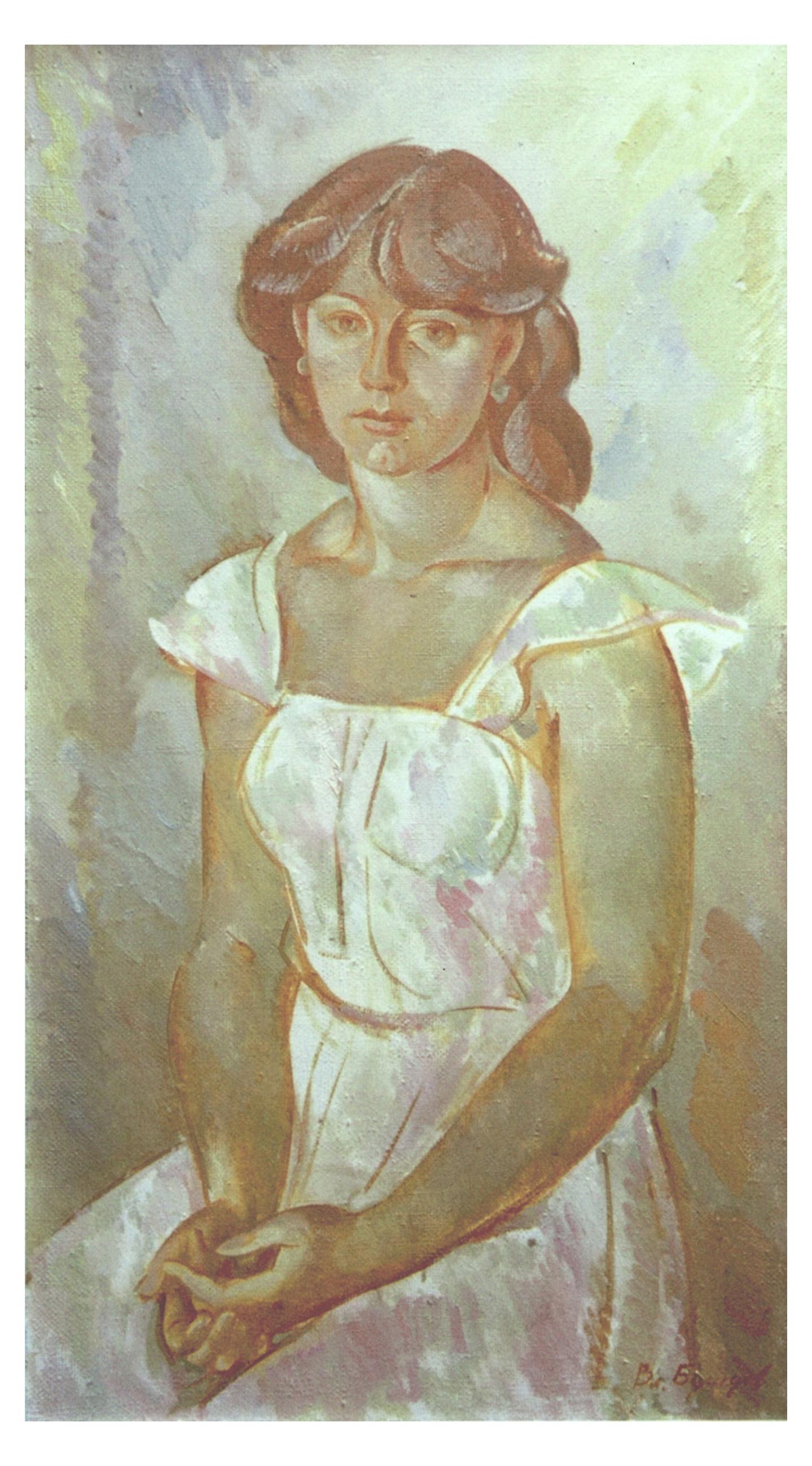 4. Девушка в белом. 1984. Х.М. 132х73