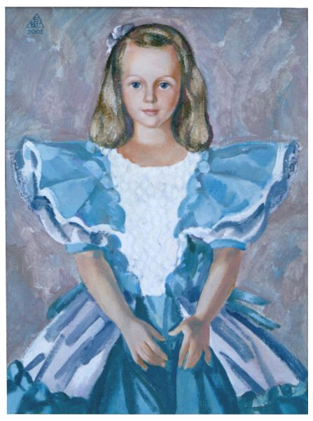 8. Маленькая принцесса. Портрет Е.Б.Свинаревой. 2002. Х.М. 80х60