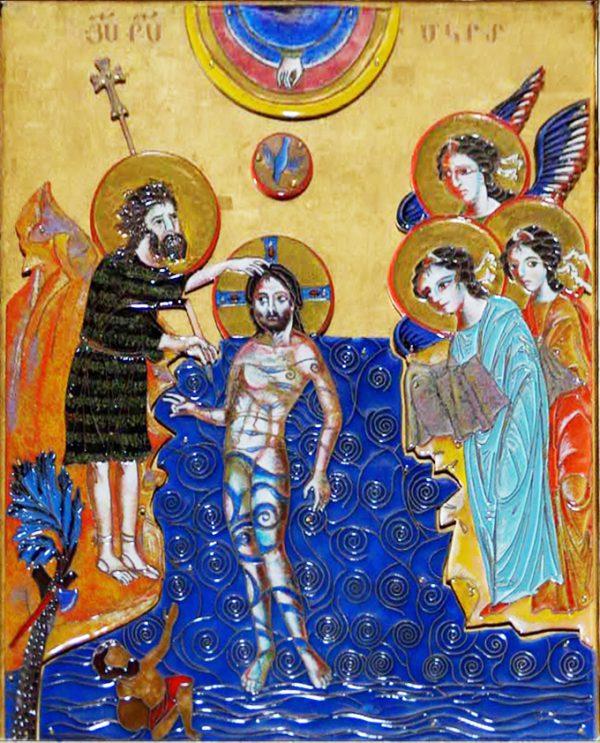 ``Крещение``. 2013. 50х40 см, перегородчатая эмаль