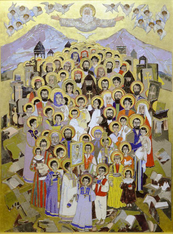 ``Св. мученики Геноцида армян``. 2017. 110х80 см, перегородчатая эмаль